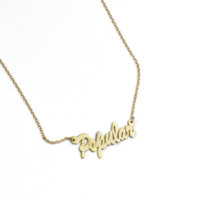 Popular Nameplate Necklace - Totally Good Time