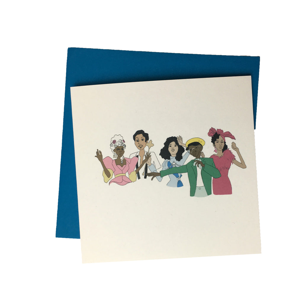 Pose Greeting Card