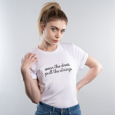 The Handmaids Tale Wear the Dress Pull the Strings Tee - White