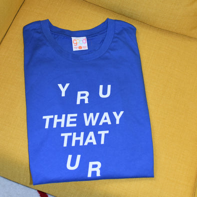 The Office Y R U The Way That U R Tee - Blue
