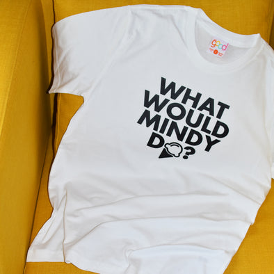 What Would Mindy (Kaling) Do Tee - White