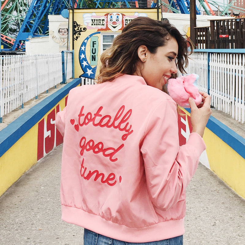 Totally Good Time Bomber Jacket - Totally Good Time