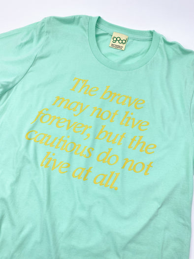 The Princess Diaries Brave and Cautious Tee - Mint