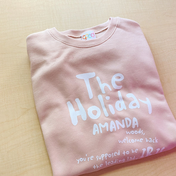 The Holiday Movie Sweatshirt - Peach
