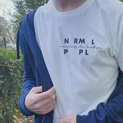 Normal People Marianne I'm Never Lonely When I'm With You Tee - White