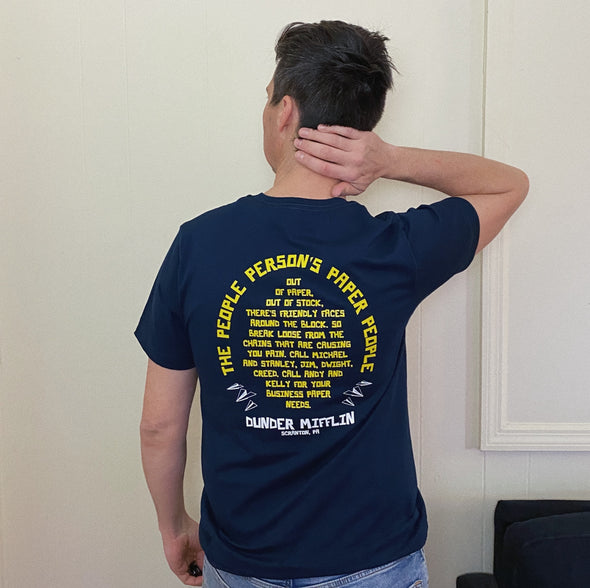 The Office Dunder Mifflin Jingle Tee - Navy