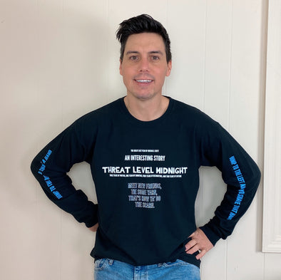 The Office Threat Level Midnight Long Sleeve Tee - Black