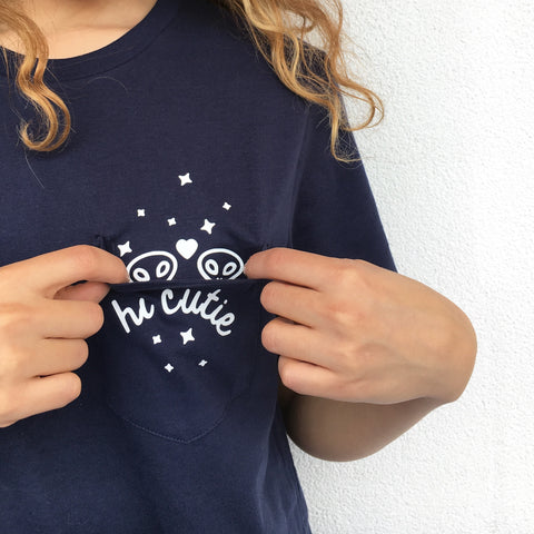 Hi Cutie Pocket Tee - Totally Good Time