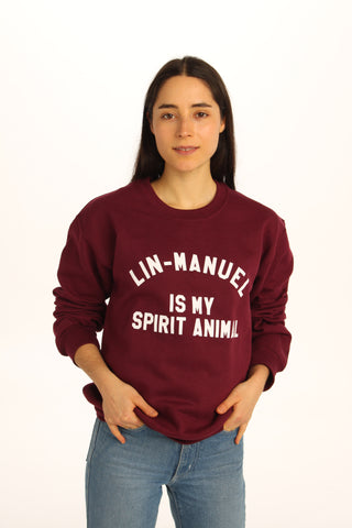 Lin-Manuel Is My Spirit Animal Sweatshirt - Totally Good Time