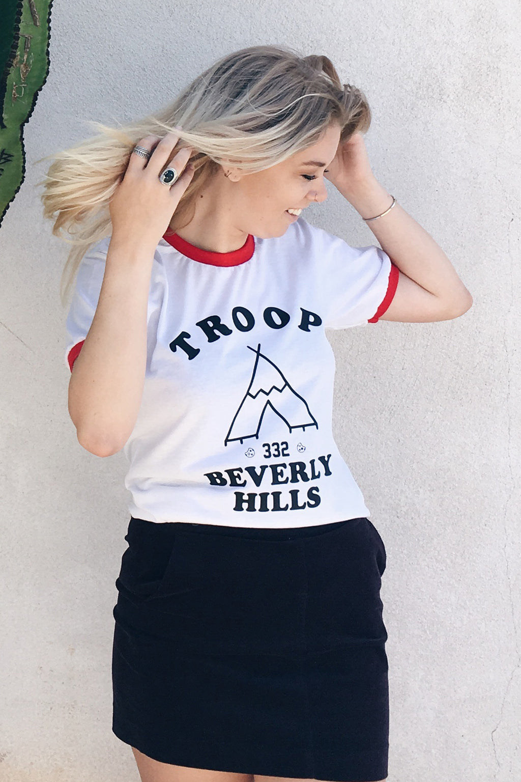 Troop Beverly Hills Ringer Tee - Totally Good Time
