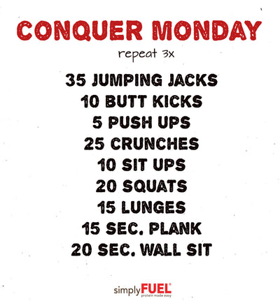 Conquer Monday Workout