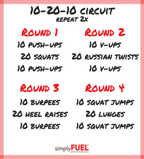 10-20-10 Circuit Workout