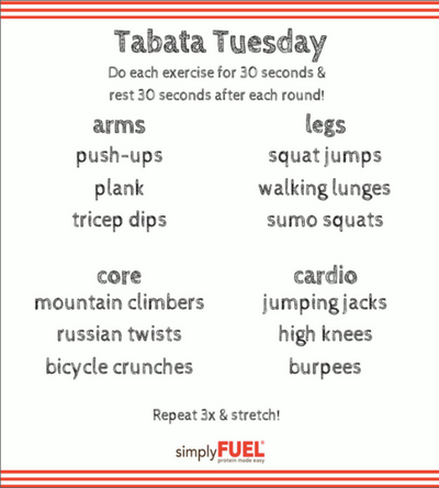 Tabata Tuesday Workout