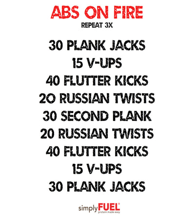 ABs on FIRE workout!
