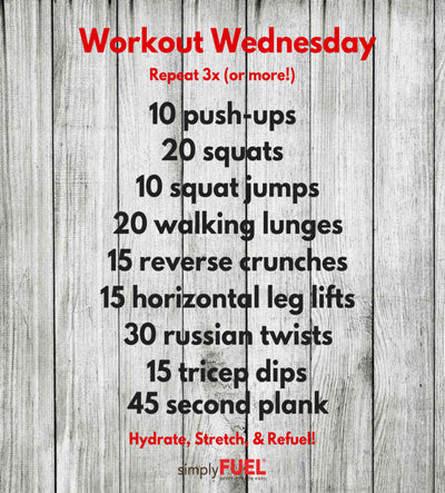 Workout Wednesday!