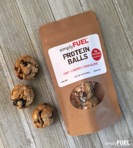 Tart Cherry Chocolate Protein Balls