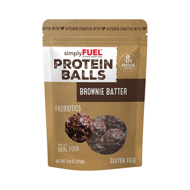 12-Pack simplyFUEL Brownie Batter Protein Balls