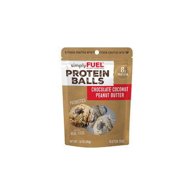 Chocolate Coconut Peanut Butter Protein Balls (6- 2 packs)