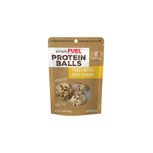 Peanut Butter Honey Almond Protein Balls (6- 2 packs)