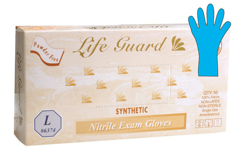 Life Guard Examination Gloves 50 pc/bx 10 bx/cs
