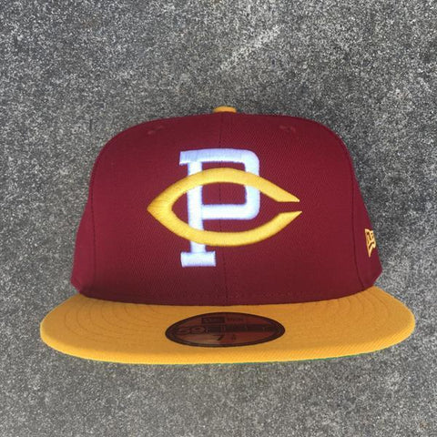 CLARK PARK BRAWLERS X NEW ERA 59/50 - CARDINAL / GOLD