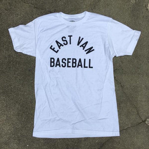 EAST VAN BASEBALL - CLUBHOUSE TEE - WHITE