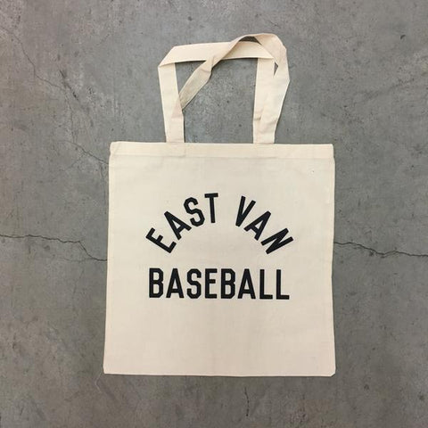 EAST VAN BASEBALL - CLUBHOUSE TOTE BAG - NATURAL