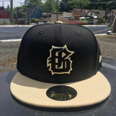 GASTOWN GAOLERS X NEW ERA 59/50 - BLACK / VEGAS GOLD