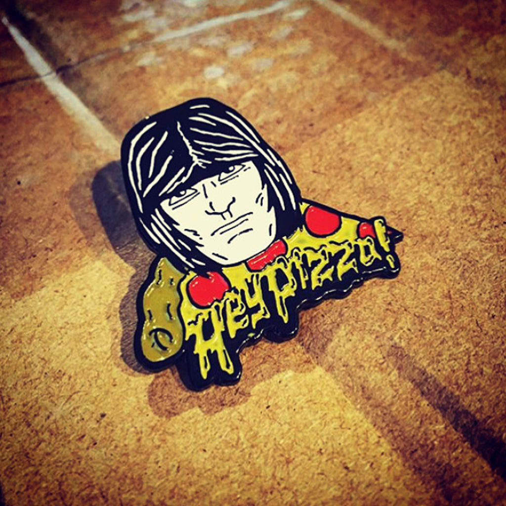 "Dee Dee Ramone Hey Pizza! 1.25"" Enamel Pin"