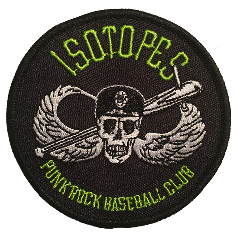 "ISOTOPES - PUNK ROCK BASEBALL CLUB - 3"" PATCH"