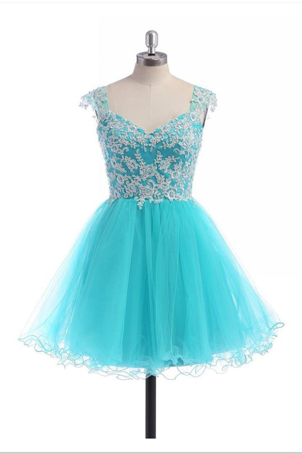 Lace V-neckline Prom Dress Homecoming Dresses With Straps ED04