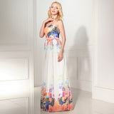 New Arrival Charming Simple Printing Long Prom Dress 01