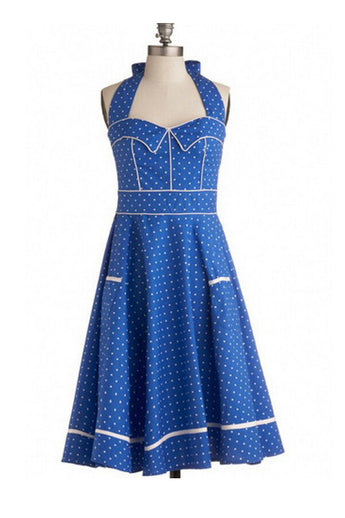 1950's Hepburn Vintage Self-Tie Dress For Women SD16