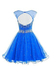 Mint Short Tulle Beading Homecoming Dress Graduation Gown ED21