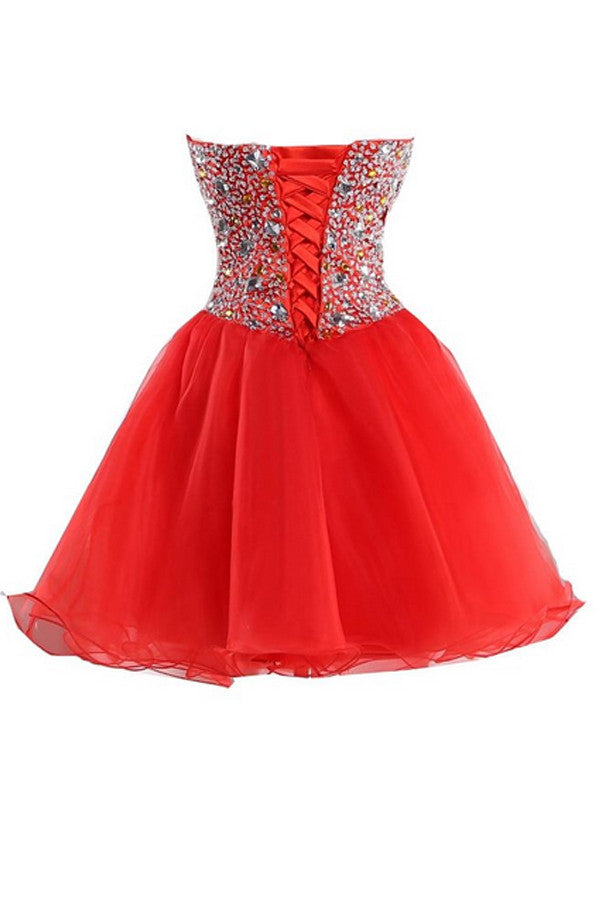 MerMaid SweetHeart Organza Bead Homecoming Dress Cocktail Dress ED23