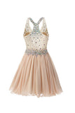 Strap Sweetheart Beading Homecoming Dresses Prom Dresses ED24