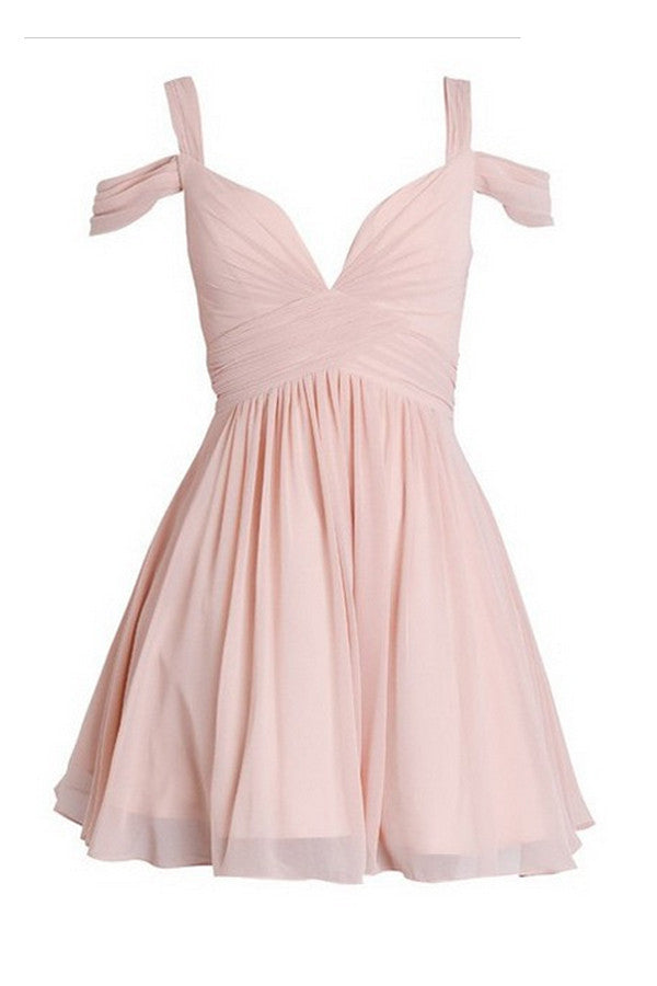 Ruched Chiffon Sweetheart Homecoming Dresses Prom Dresses ED26