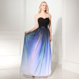 Sweetheart Ombre Charming Prom Dress Evening Dress 07