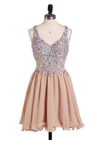 Charming Chiffon Sweetheart Prom Dresses Homecoming Dresses ED46