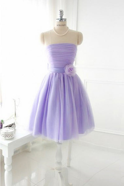 Elegant Strapless Tulle Prom Dresses Homecoming Dresses ED50