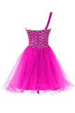 One shoulder Sweetheart Prom Dresses Homecoming Dresses ED57