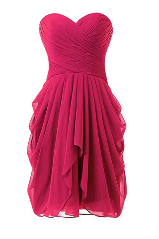 Hot Pink Chiffon New Star Prom Dresses Homecoming Dresses ED58