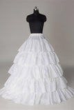 Fashion Wedding Petticoat Accessories 5 layers White Floor Length Underskirt