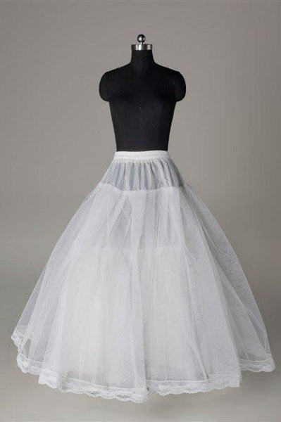 Fashion White Wedding Petticoat Accessories White Floor Length Underskirt