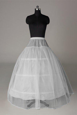 Fashion Wedding Petticoat Accessories White Beautiful Floor Length Wedding Underskirt