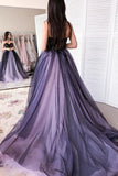 New Strapless Appliqued Prom Dress with Beads,  A Line Tulle Sweetheart Beaded Tulle Dress N1601