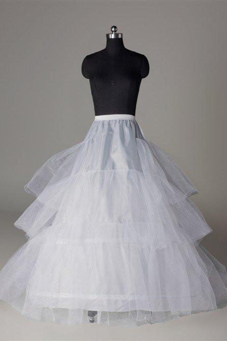Floor Length White Petticoat, Long Fashion Cheap Underskirt Accessories