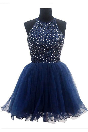Ball Gown Navy Blue Prom Dresses Homecoming Dresses ED61