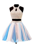 Two piece Open Back Sleeveless Homecoming/Prom Dresses ED71