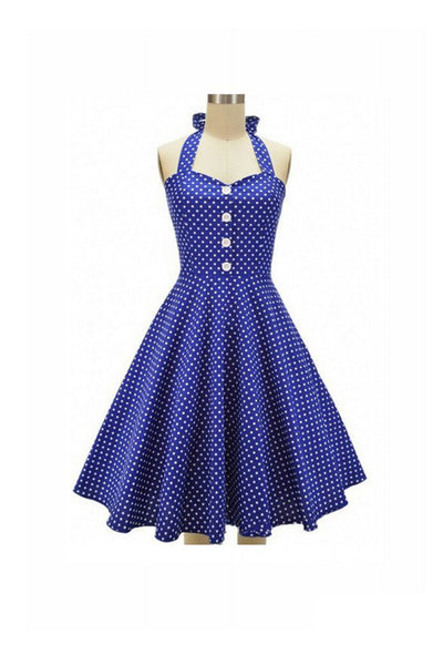 1950's Vintage Halter Sleeveless Dress For Women SD17
